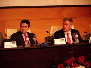 El magistrado del Tribunal Supremo, José Luis Requero y el alcalde de Jaén, José Enrique Fernández de Moya